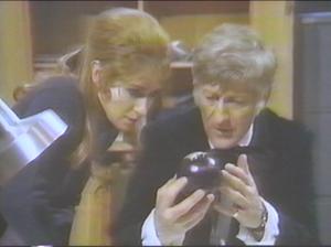 Liz Shaw Doctor Pangea Globe